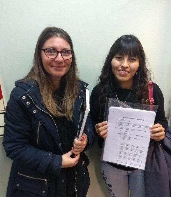 Gloria Sáez (PO)y Emilse Saavedra (MST)