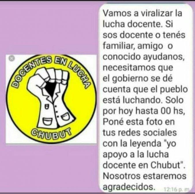 Yo apoyo a la lucha docente en Chubut