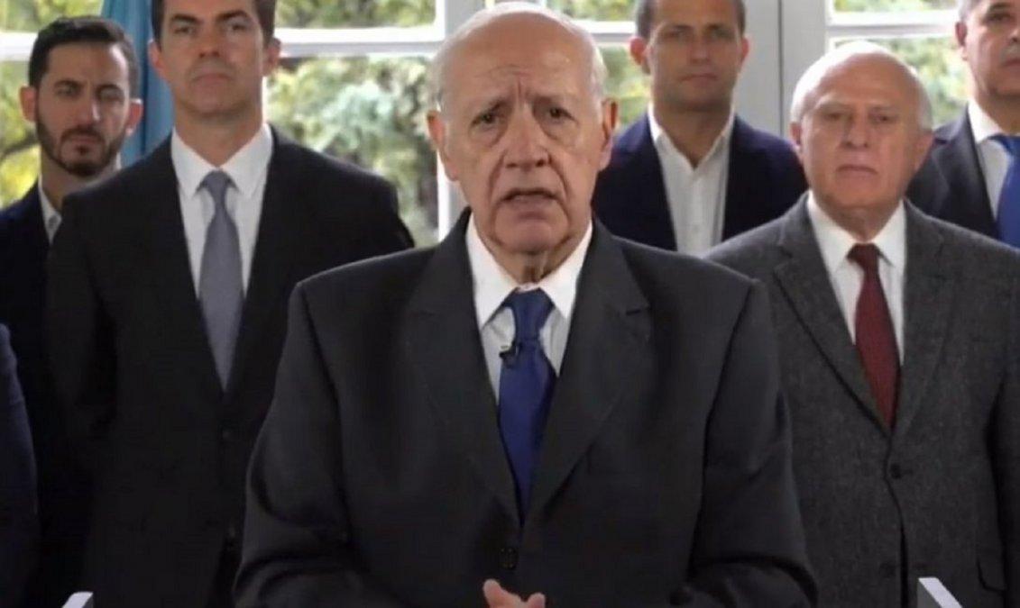 Lavagna llamó a suspender campañas políticas y devolver la serenidad al país