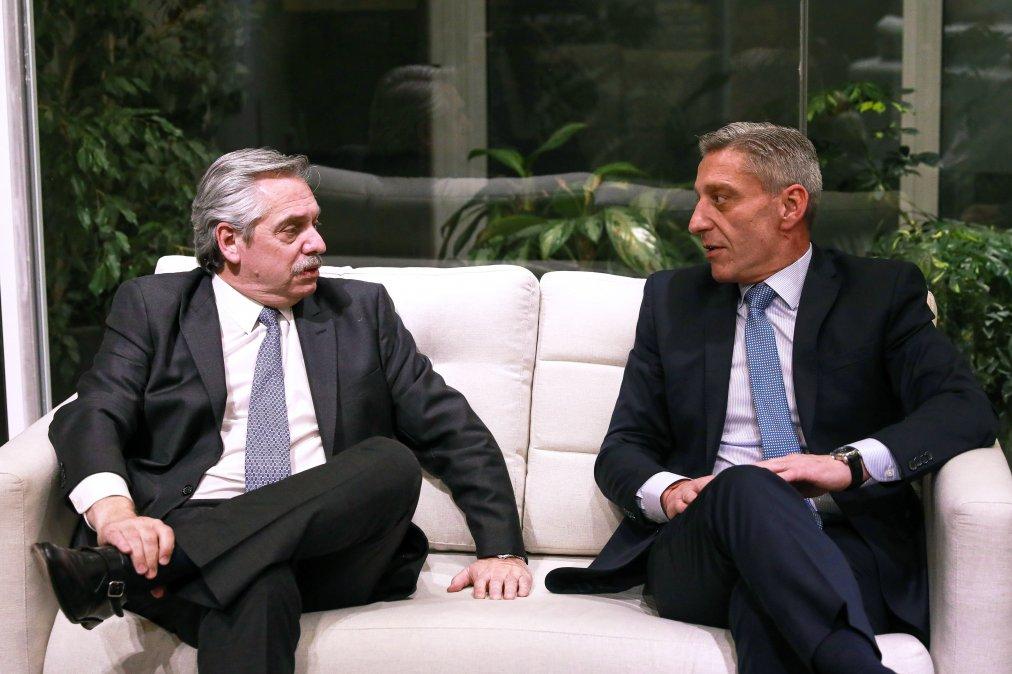 Arcioni se respalda en Alberto Fernández