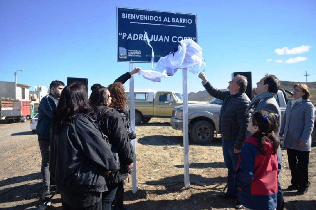 Hoy se inauguró el barrio Padre Corti
