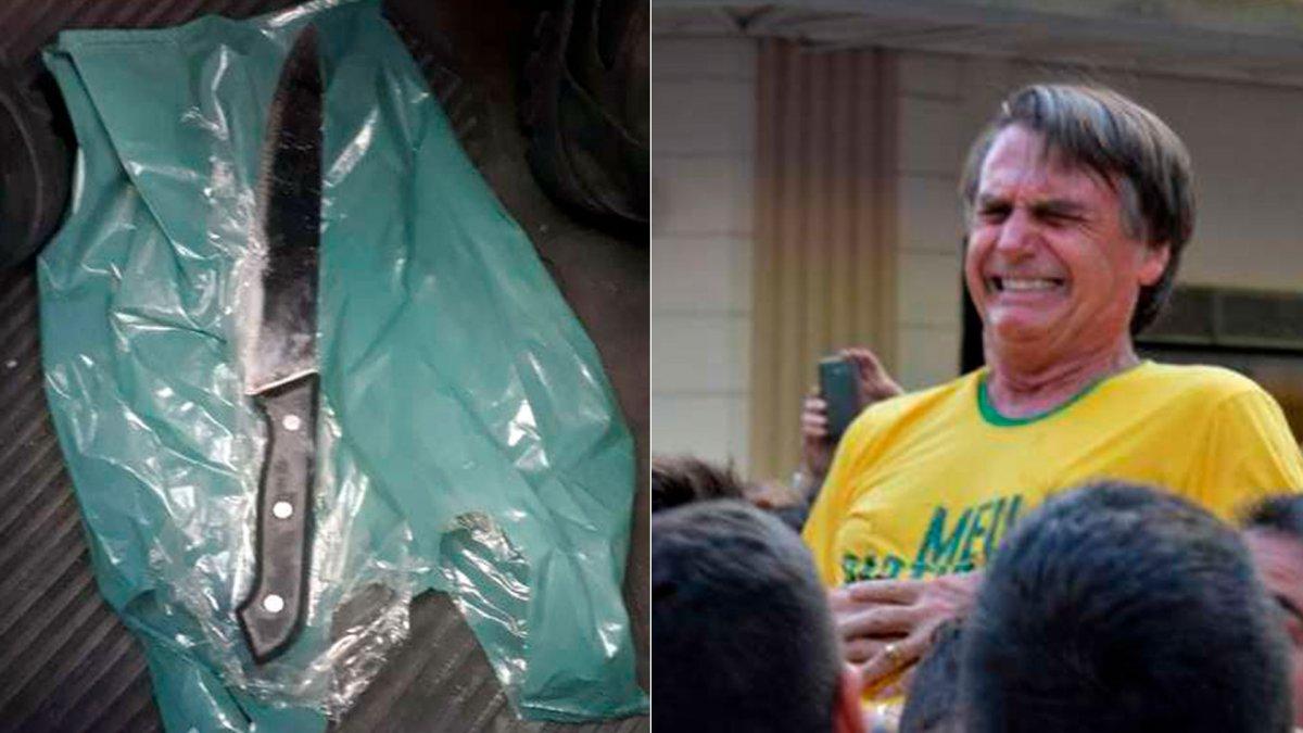 Exhibirán en un museo el cuchillo con el que apuñalaron a Bolsonaro