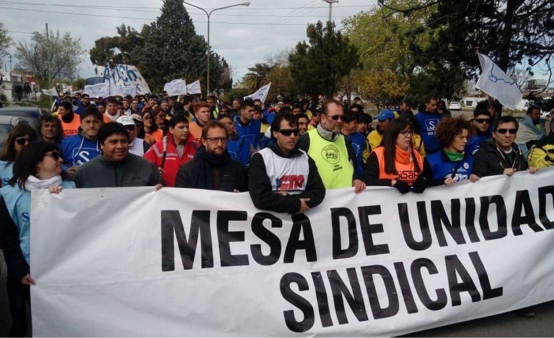 La Mesa de Unidad Sindical enfrenta una semana de reuniones clave