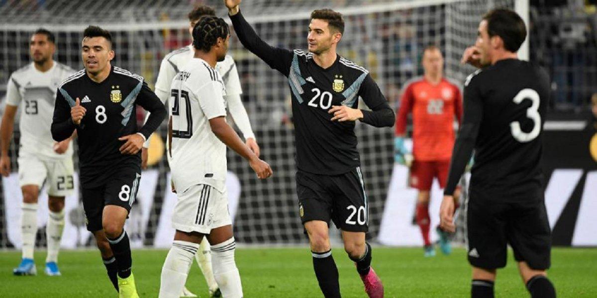 Argentina lo empató sobre el final