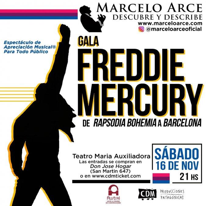 Marcelo Arce llega con su espectáculo Gala Freddie Mercury