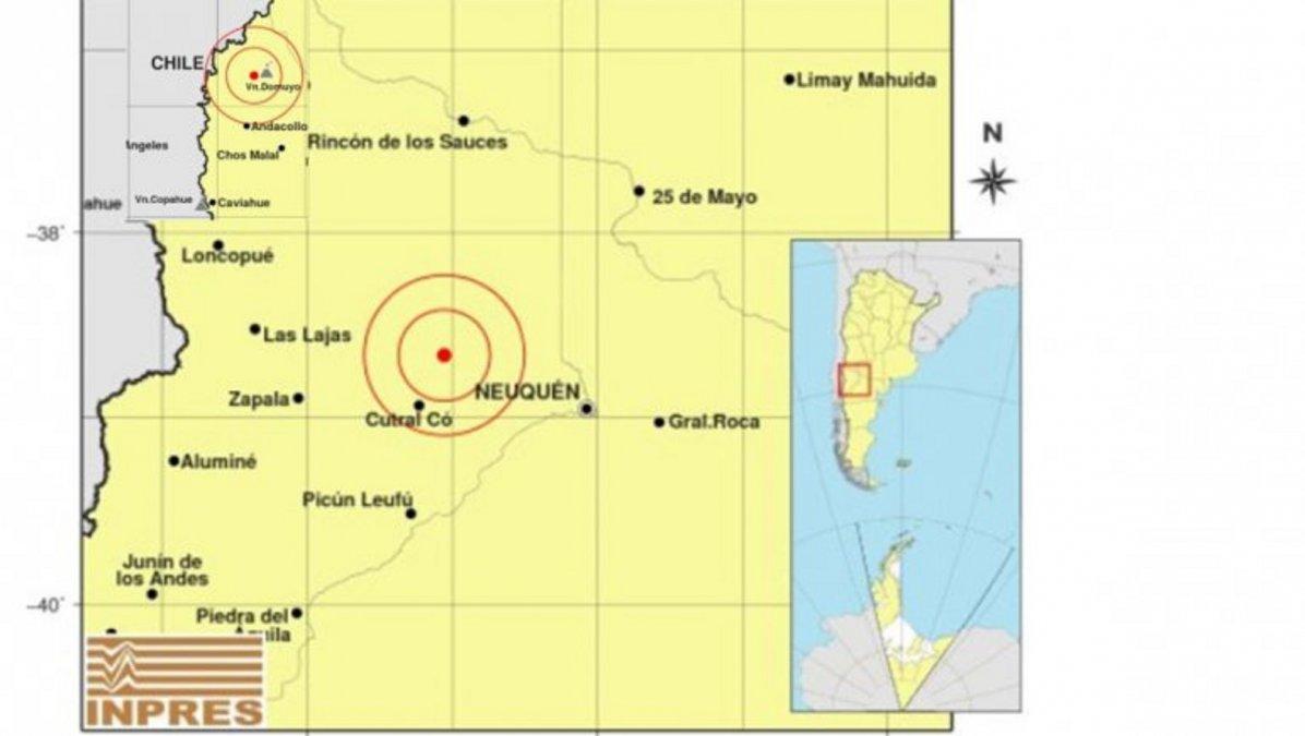 Se registraron tres sismos en Neuquén
