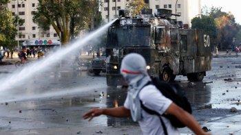 Disturbios en la previa del plebiscito para una nueva Constitución