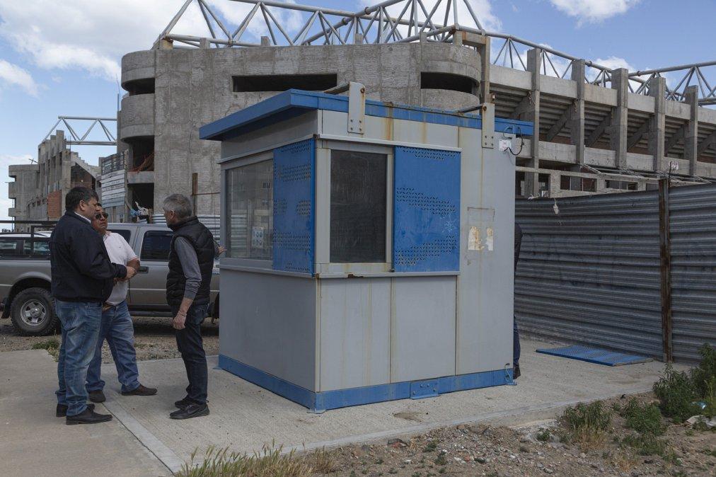 La obra del Estadio del Centenario contará con guardia permanente