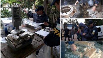 Secuestraron droga proveniente de Paraguay que viajaba en neumáticos