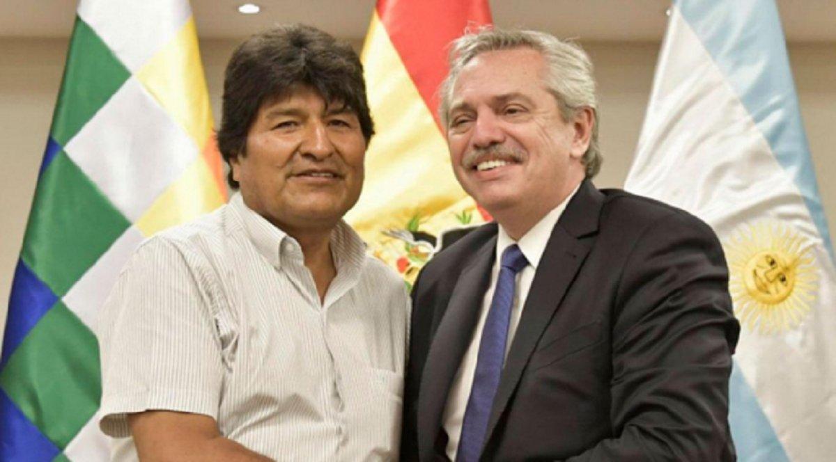Alberto Fernández visitó a los hijos de Evo Morales