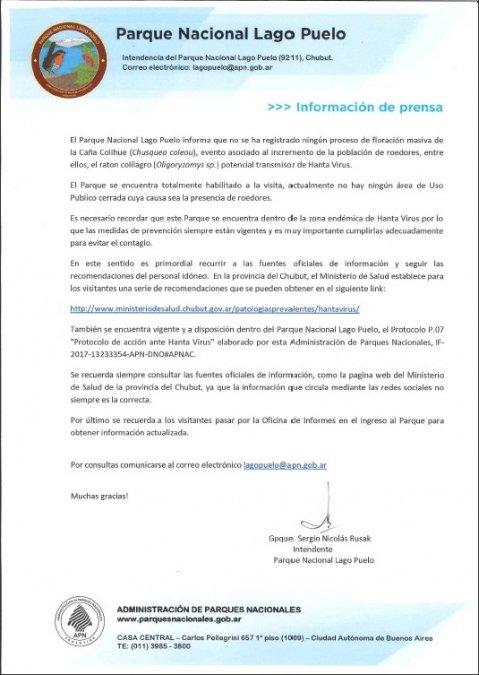 Desmienten invasión de roedores en Lago Puelo