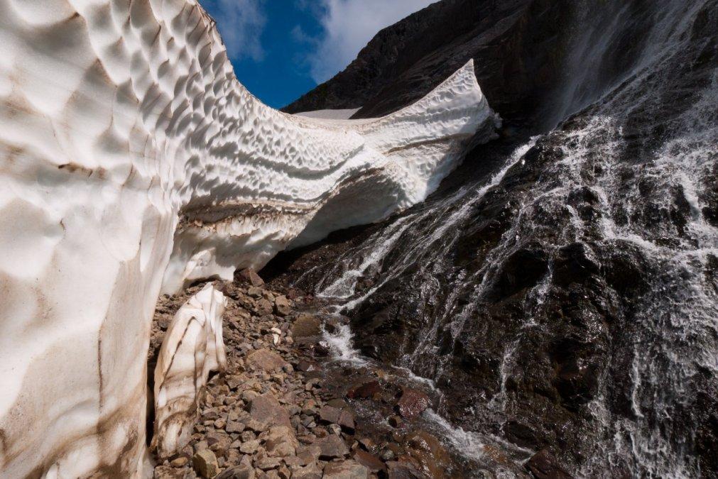 Se forman los túneles de hielo en cerro La Torta