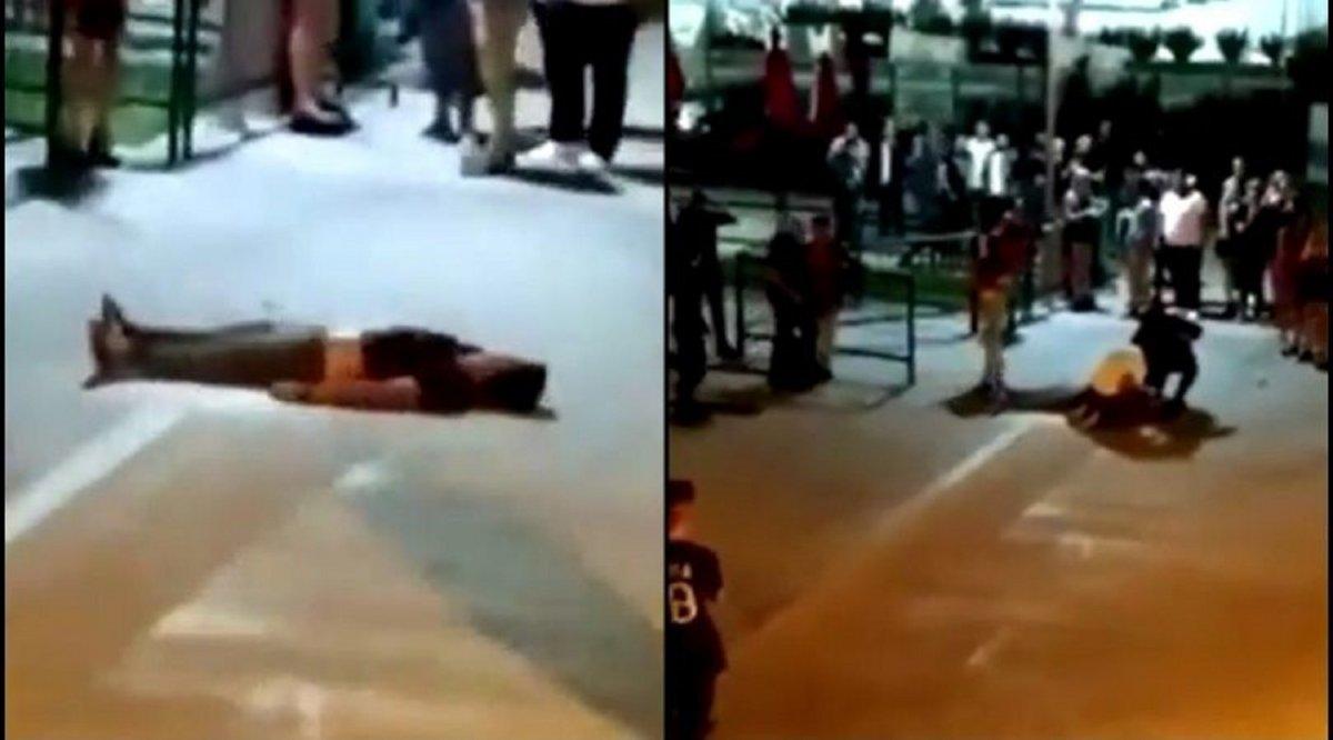 Brutal golpiza a un joven afuera de un boliche