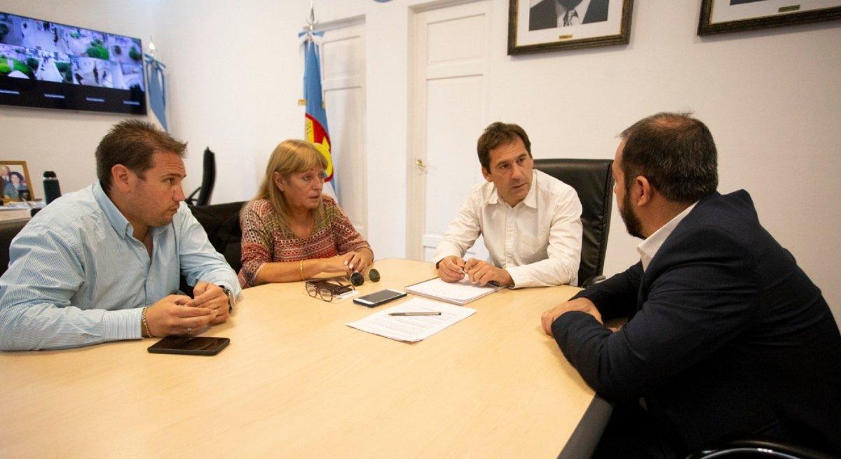 Grazzini y Luque concretaron una agenda de trabajo