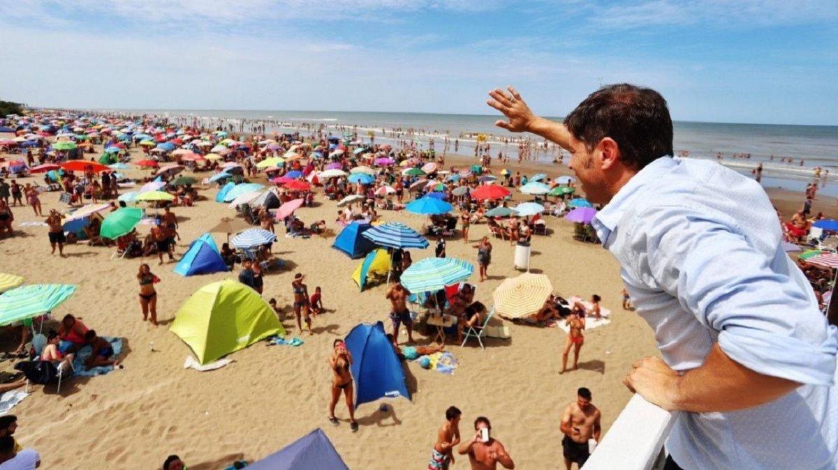 Kicillof aseguró que la costa está que estalla