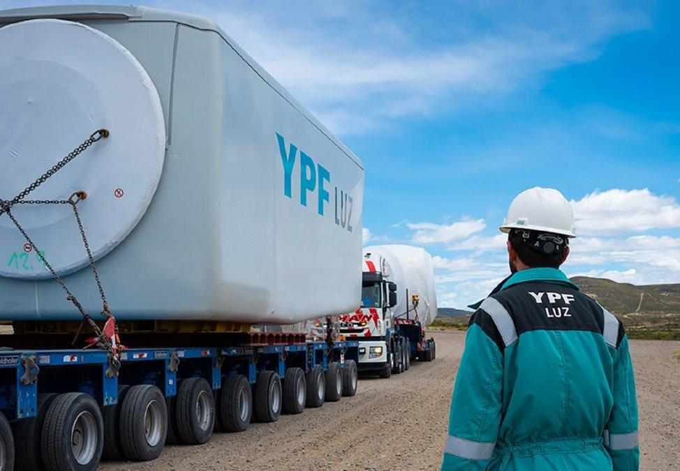 YPF Luz impulsa obra en el parque eólico Cañadón León
