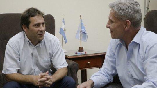 Luque visitó a Arcioni, y destacó la búsqueda del consenso