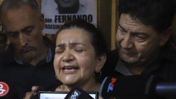La madre de Fernando Baez pidió justicia por su hijo
