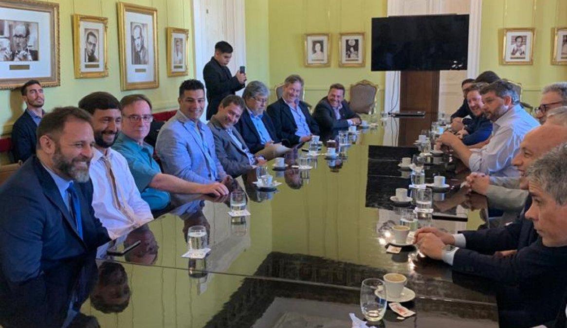 Intendentes del Frente de Todos de Chubut se reúnen en Casa Rosada