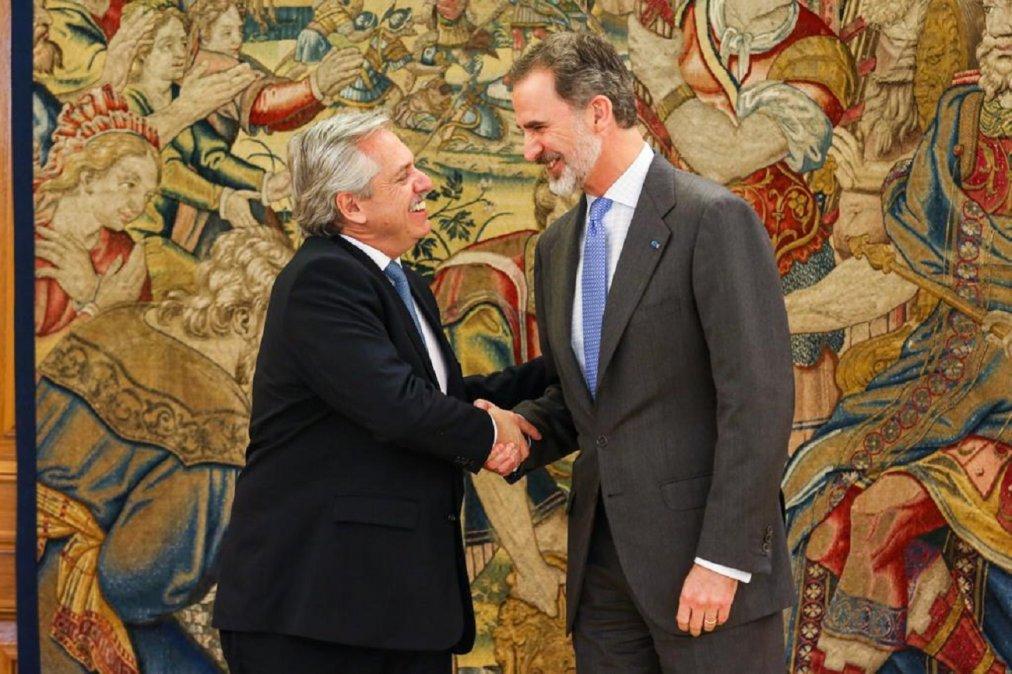 Fernández se reunió con el rey Felipe VI