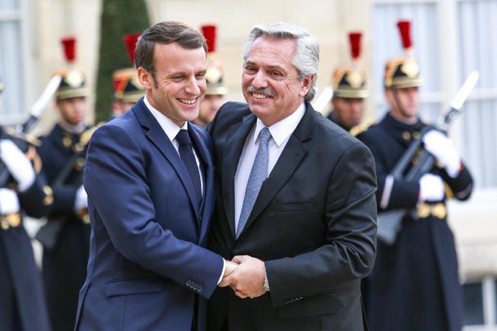 Francia se comprometió a ayudar a Argentina