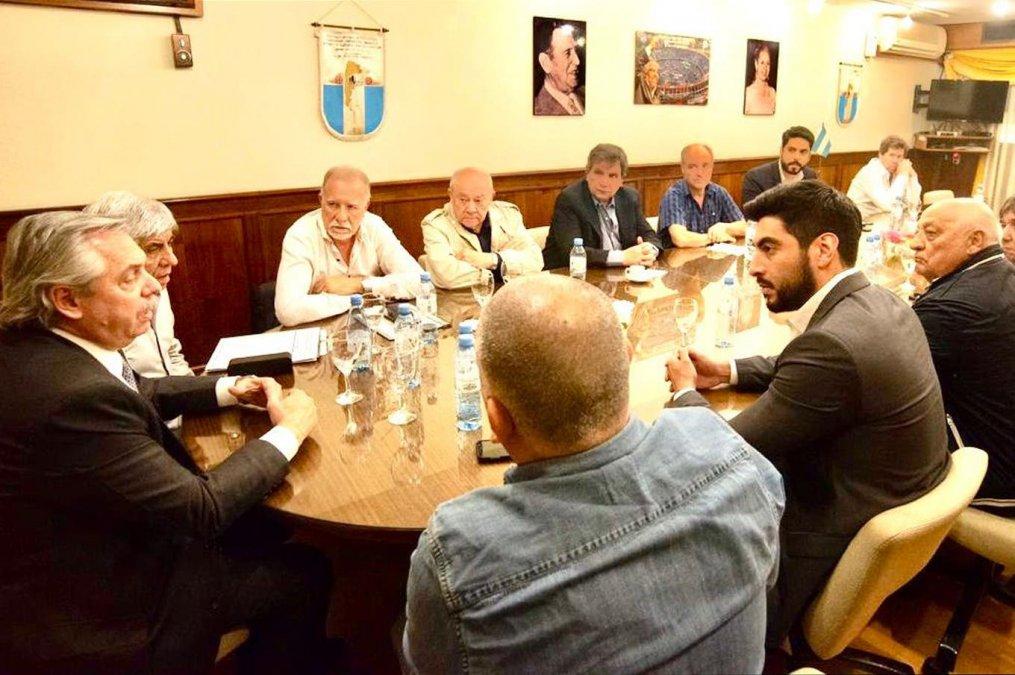 Fernández se reunió con Hugo Moyano