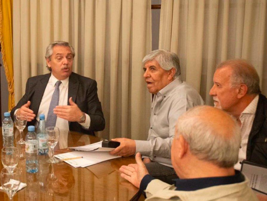 Alberto Fernández se reunió con Hugo Moyano