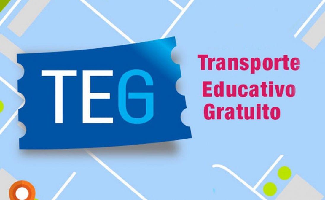 TEG: Inició la inscripción online