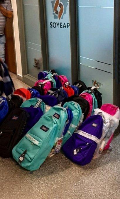 El SOYEAP entregará kits escolares