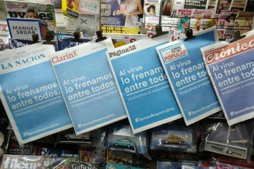 Los principales diarios del país enviaron un mensaje a la ciudadanía.