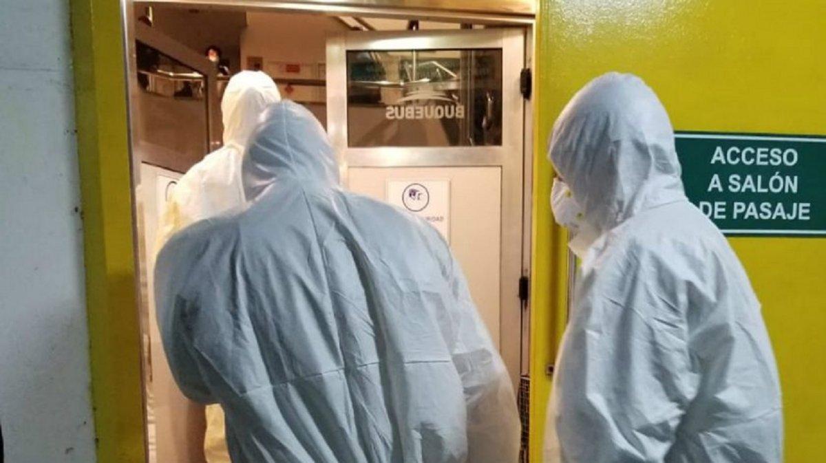 El operativo sanitario montado en Buquebus