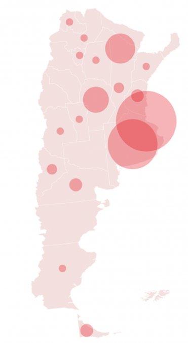 En el norte del país se registran más casos.