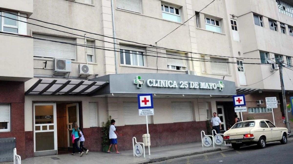 El hombre de 71 años estaba internado en la Clínica 25 de Mayo de Mar del Plata.