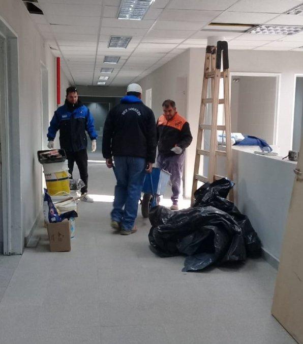 El Ministerio de Infraestructura avanza en la refacción de hospitales de Chubut.