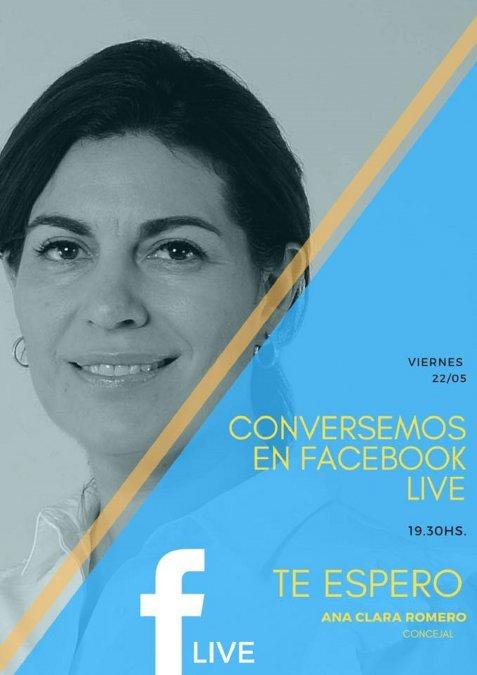 Ana Clara Romero conversará con los vecinos a través de Facebook Live.