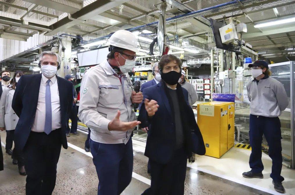 Un día después de la visita presidencial a la planta de Toyota