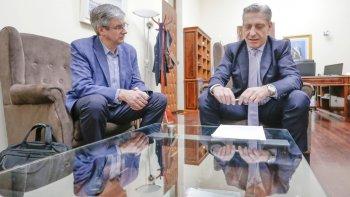 Arcioni y Ongarato rubricaron el convenio de Asistencia Financiera