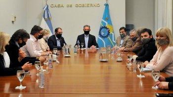 Arcioni se reunió con todos los senadores y diputados nacionales