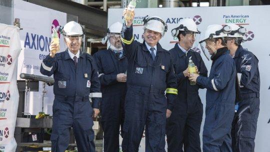 El Presidente Alberto Fernández dejó inaugurada hoy la primera planta refinadora de Gasoil Premium que construyó Pan American Energy en Campana, provincia de Buenos Aires.