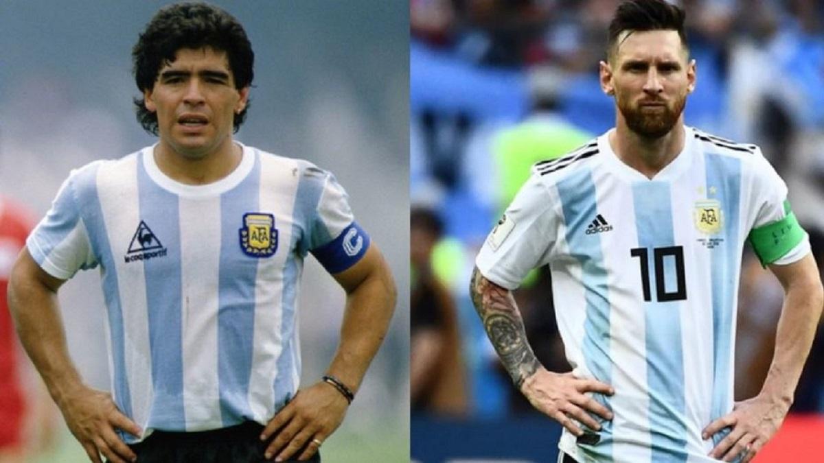 Los saludos de Messi y Maradona por el Día de la Bandera