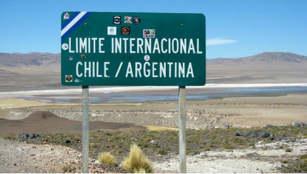 Frontera entre Argentina y Chile.