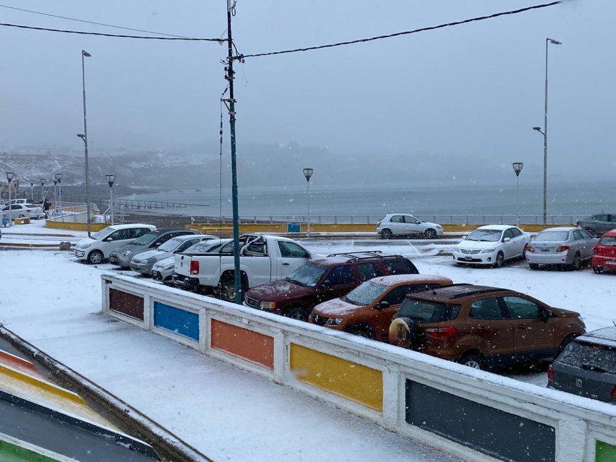 Mirá las mejores imágenes de la nevada en Comodoro, Rada Tilly y alrededores