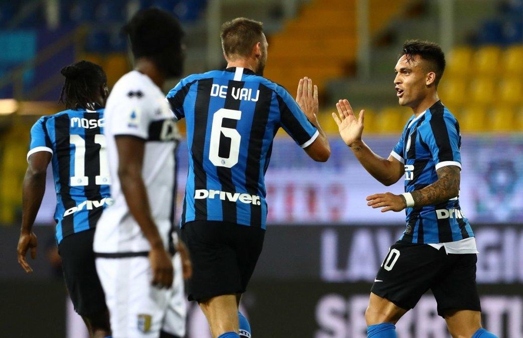 Serie A: El Inter se lo dio vuelta sobre el final al Parma