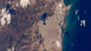Comodoro Rivadavia y Rada Tilly vistas desde el espacio