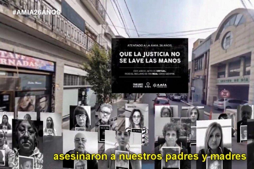Acto virtual organizado por La Juventud a 26 años del atentado perpetrado el 18 de julio de 1994 contra la Asociación Mutual Israelita Argentina