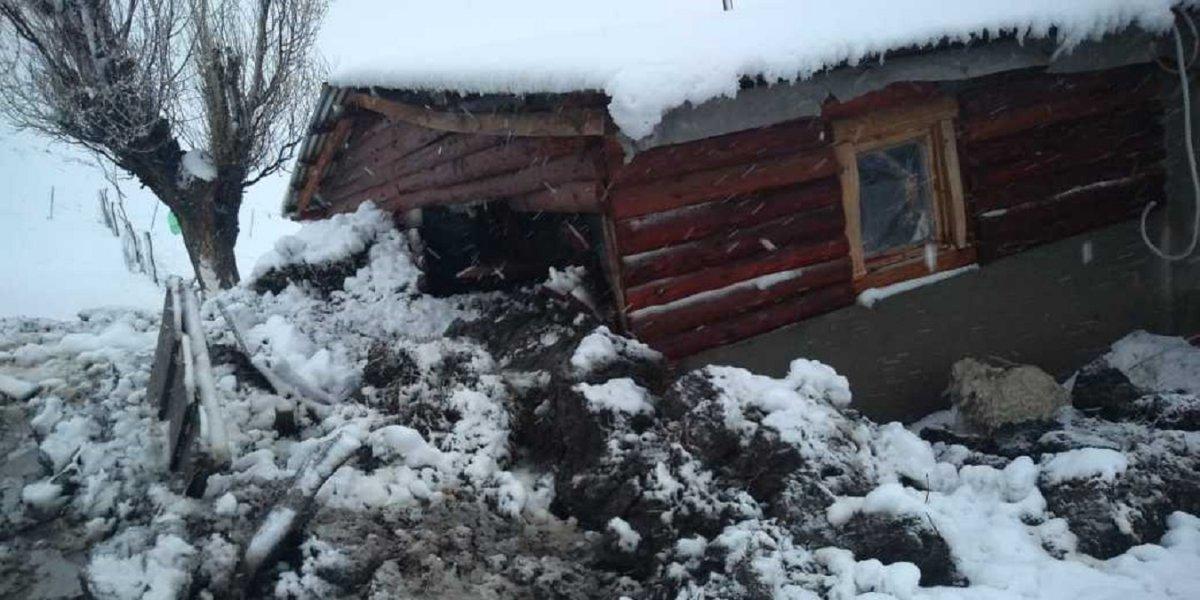 Hace 15 días que las fuertes nevadas golpean la región de Cushamen.
