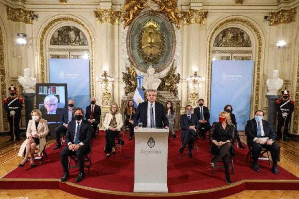 El Presidente Alberto Fernández presentó el proyecto de Reforma Judicial Federal en el Salón Blanco de Casa de Gobierno