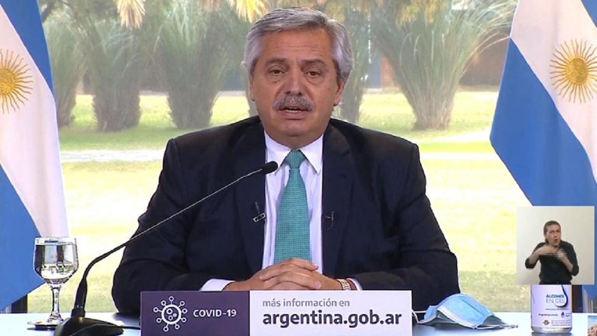 Alberto Fernández anunció la cuarentena hasta el 16 de agosto.