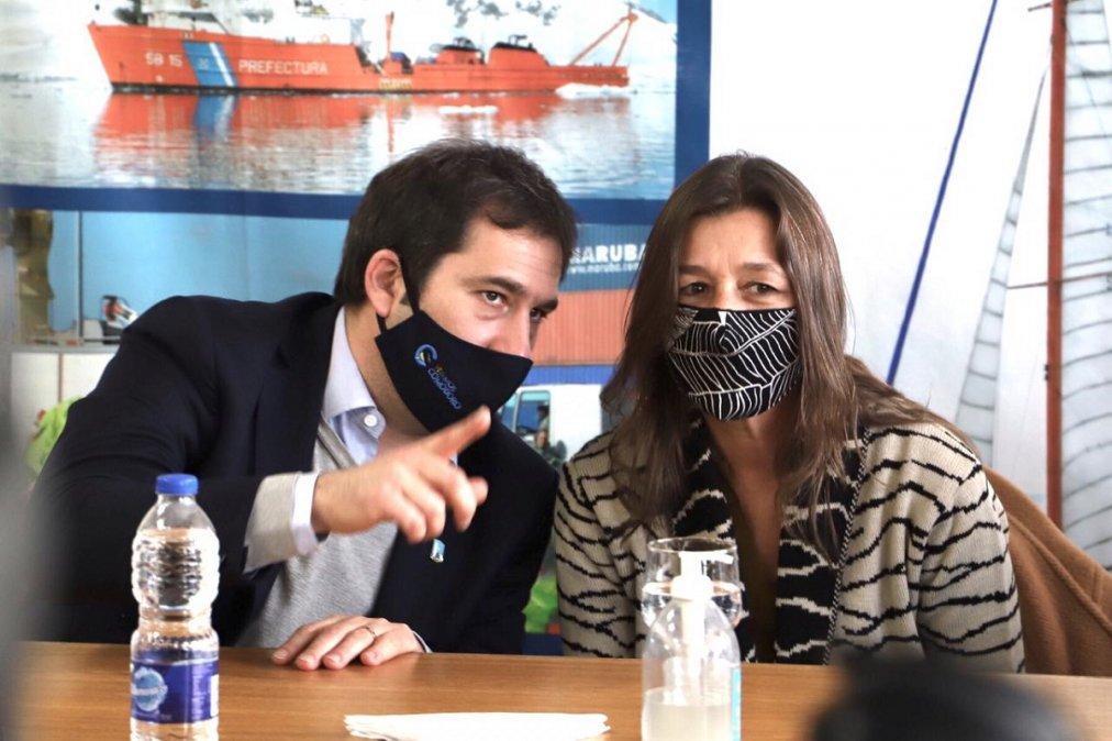 Juan Pablo Luque junto a Sabina Frederic.