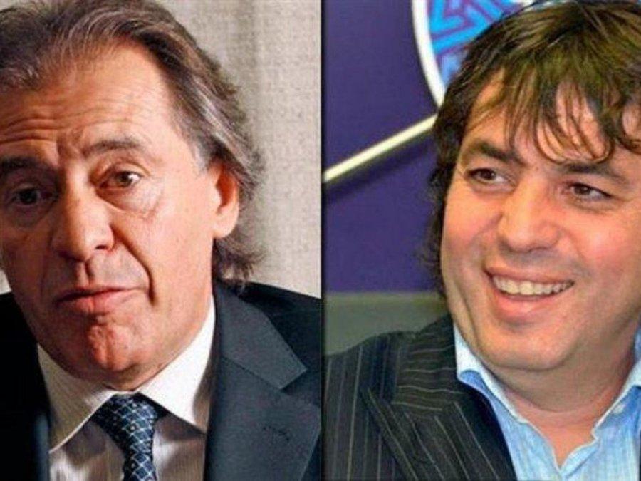 El empresario Cristóbal López y su socio Fabián De Sousa.